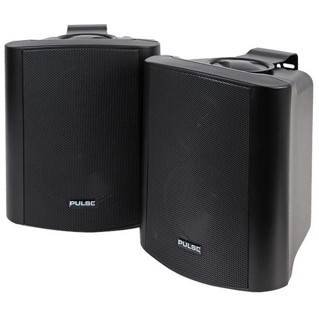 5 inch 2 Way 30W Active Speakers, Black 1 Pair