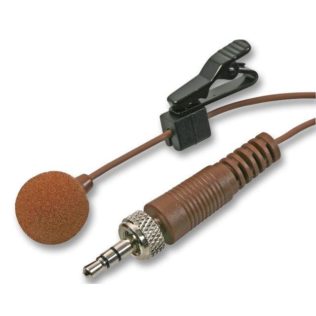 Lavalier Microphone with 3.5mm Locking Jack Plug, Brown