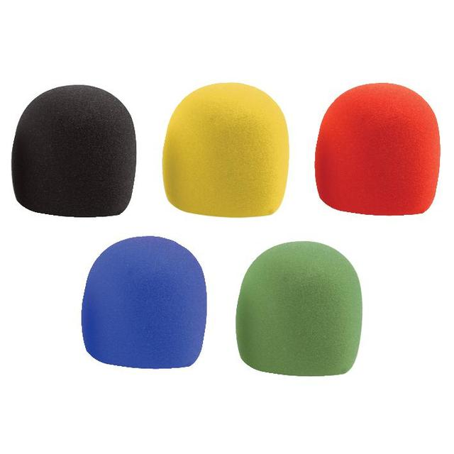 5 Pack of Microphone Windshields, Assorted Colours