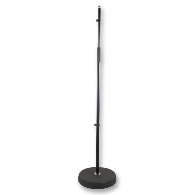 Round Base Adjustable Microphone Stand, Black