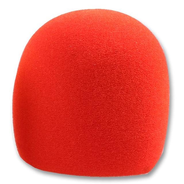 40-50mm Microphone Windshield, Red