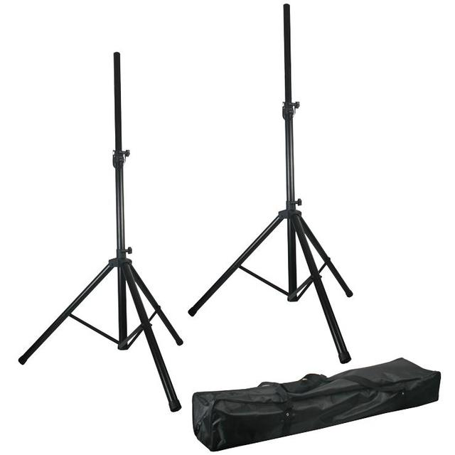Twin Adjustable Speaker Stands Kit with Bag