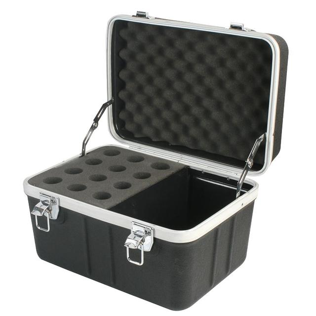 12 Microphone ABS Flight Case