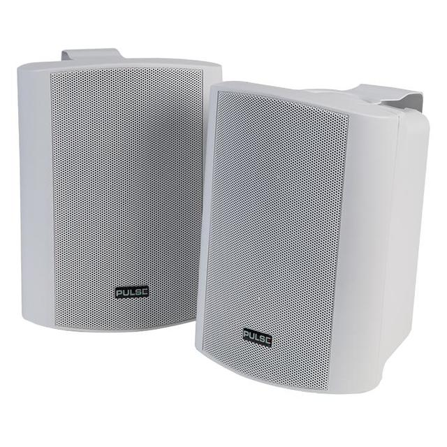 5 inch 2 Way 30W Active Speakers, White 1 Pair