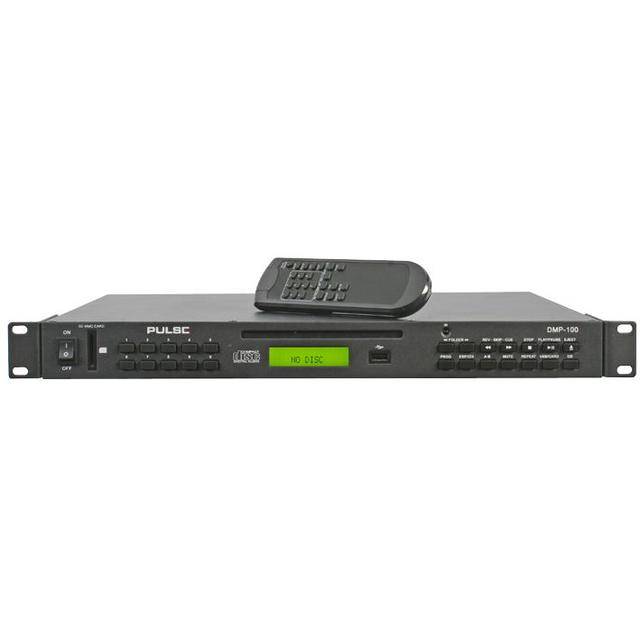 Rack Mountable Professional Audio Media Player with CD Unit and SD Card / USB Inputs
