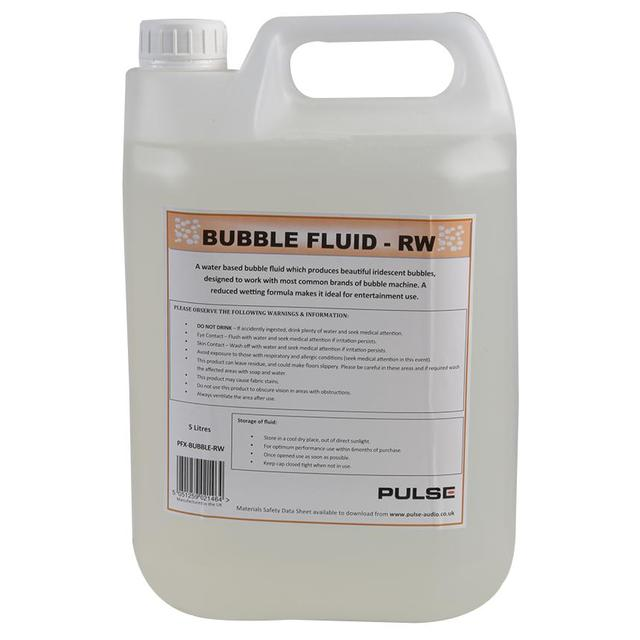 Reduced Wetting Bubble Fluid, 5 Litre