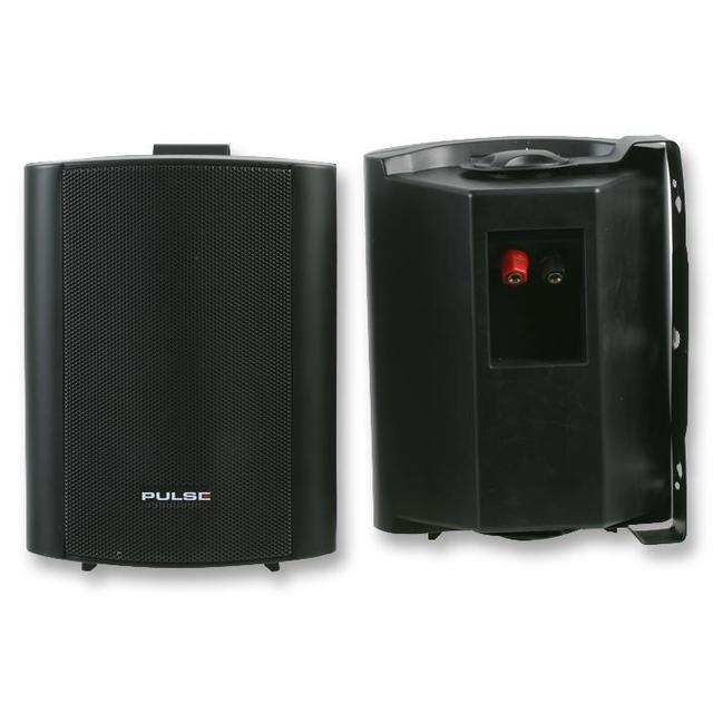 4 inch 25W ABS Speakers, Black (Pair)